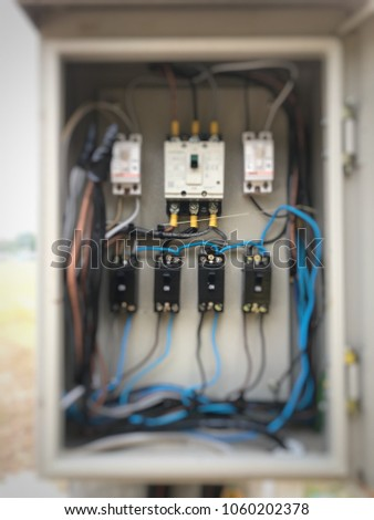 Stupendous Electric Circuit Breaker Electric Box Electricity Stock Photo Edit Wiring 101 Olytiaxxcnl