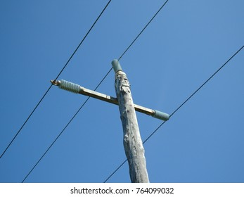 electric crossing utility poll