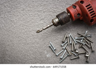 electric drill, Screw