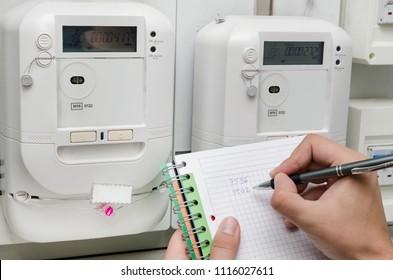 Electric Meter Reading Images, Stock Photos & Vectors   Shutterstock