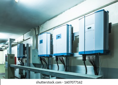 Electric energy storage pot from solar cells in the factory at Petchkasem road Omnoi Krathumban Samut Sakhon, 24 December 2019