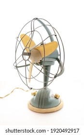 Electric fan ventilator with white background