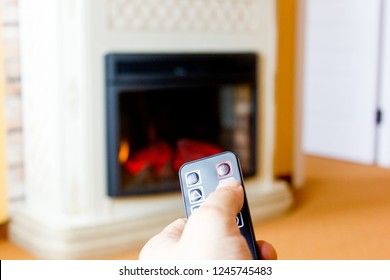 Electric fireplace remote control