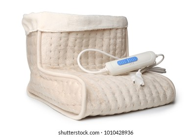 Electric foot warmer boot on white background
