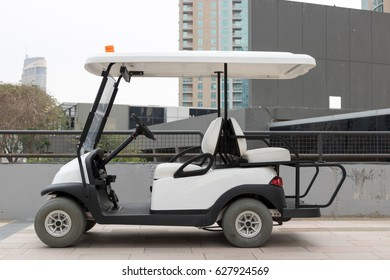 Electric golf cart, side view