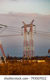 Electric grid poles and wires