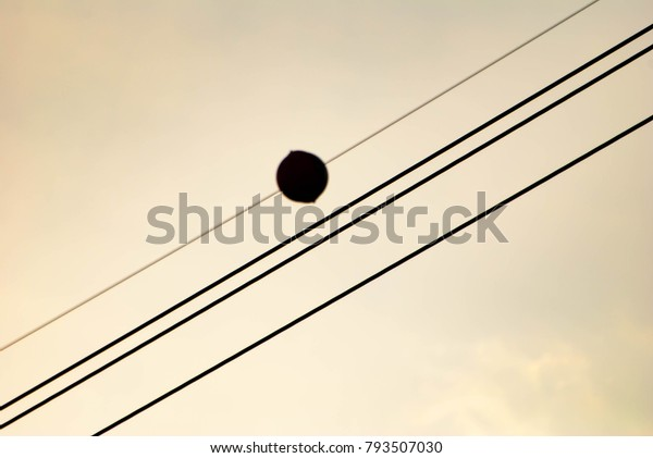 Electric Grid Poles Wires | Royalty-Free Stock Image on