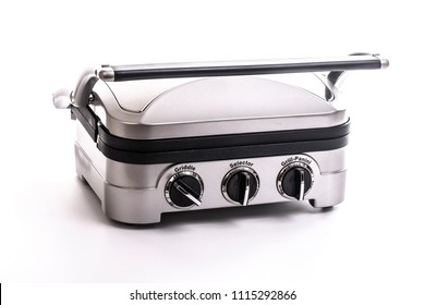 Electric Grill and Griddle on a white background