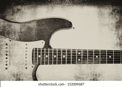 "Electric guitar backgrund ""grunge"""