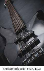 Electric guitar close-up, music concept. Strings, background