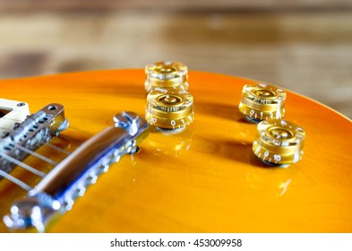 Electric guitar  lespaul close up