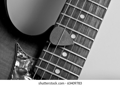 electric guitar on neutral gray background