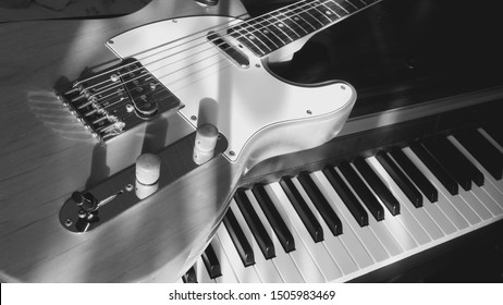 Piano Guitar Wallpaper Stock Photos Images Photography Shutterstock