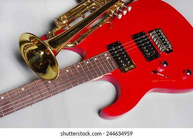 Electric guitar and trumpet