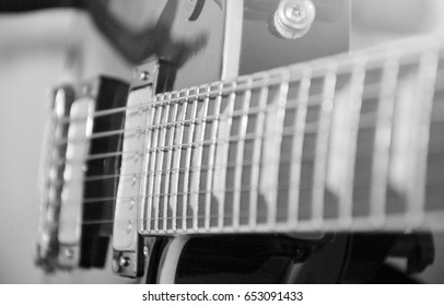 Electric guitar,black and white picture