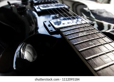 electric guitars black color
