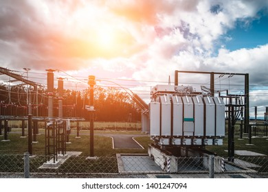 Electric high-power  station and powerful transformers