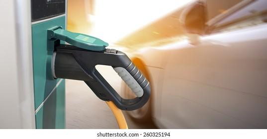 Electric hybrid car charging station