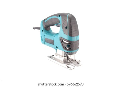 electric jigsaw on a white background