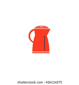 Electric kettle. Color simple flat icon on white background
