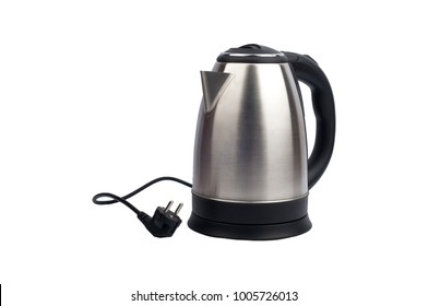 electric kettle on a white background