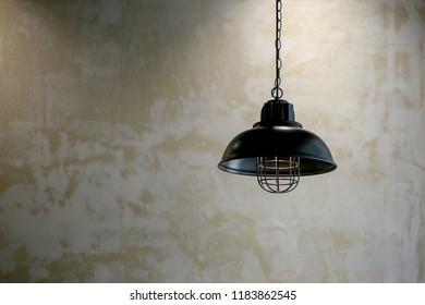 electric lamp in black