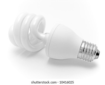 electric lamp on a white background