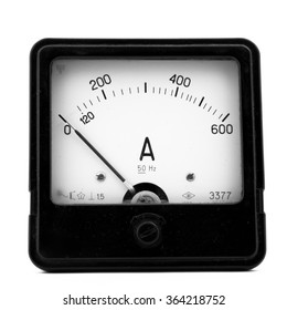 Electric measuring device isolated on the white background.