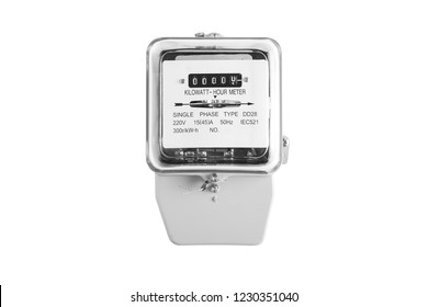Electric meter power tool isolated from white background.