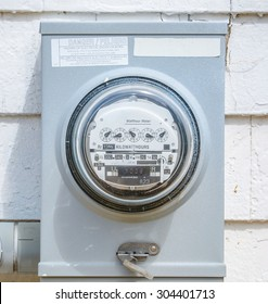 electric meters in the back side of supermarket or strip mall