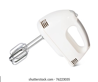 electric mixer. Isolated on white background with clipping path