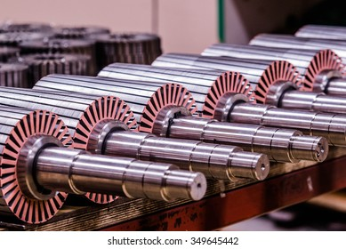 The electric motor rotor of stock