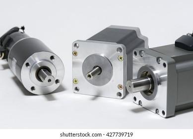 electric motors (DC brush-less motor, stepping motor, and AC servo motor)
