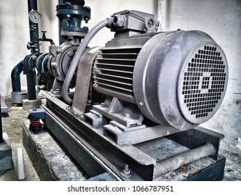 Electric motors driving water pumps.