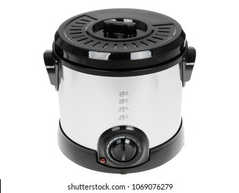 Electric multi cooker isolated on white
