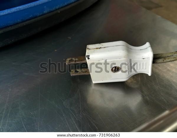 Electric Plug on steel