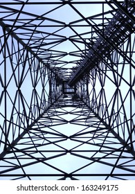 electric pole from the bottom view