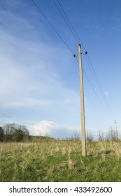 Electric pole in countryside