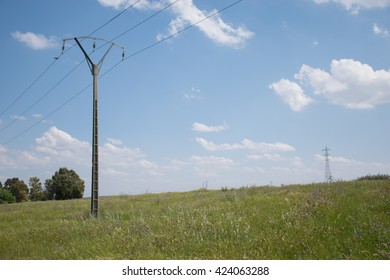 electric pole in the field