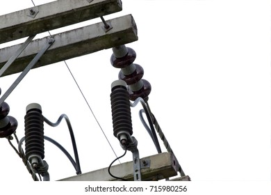 electric pole, selective focus