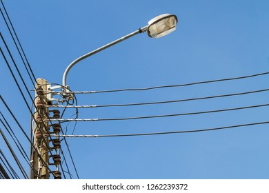 danger high voltage street lighting images, stock photos \u0026 vectorselectric pole and street lamp post with blue sky background electric pole connect to the