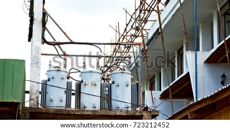 electric pole transformer wires 450w 723212452 electric pole transformer wires stock photo (edit now) 723212452