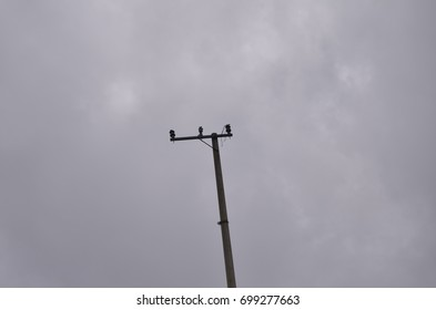 electric pole without cables