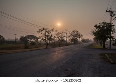 electric poles under morning sun