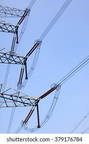 Electric power equipment, closeup of photo