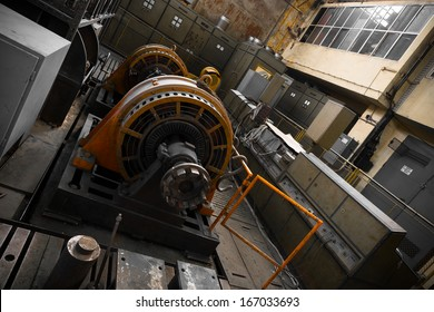 an electric power generator, dynamo detail, component