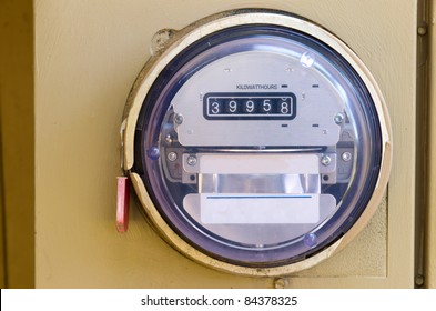 An Electric Power Meter Reading Energy Usage