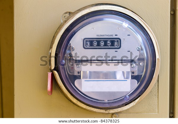 Electric Power Meter Reading Energy Usage Stock Photo (Edit Now