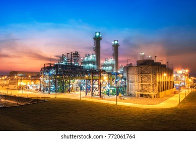electric power plant during sunset time,Gas turbine electrical