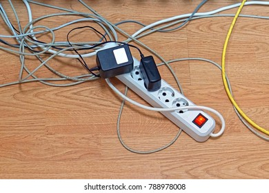 Electric power strip with illuminated switch in Europe